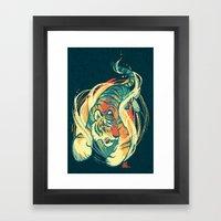 Astral Tiger Framed Art Print
