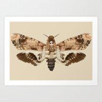 Acherontia Lachesis Art Print