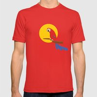 Macaw Mens Fitted Tee Red SMALL