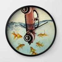 VW Beetle And Goldfish Wall Clock