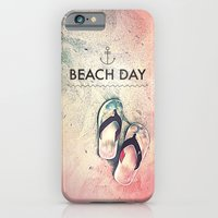 iPhone Cases featuring Beach Day by Spires