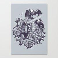 Lucha Kaiju Canvas Print