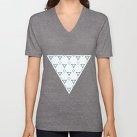 Little Blue Triangles Unisex V-Neck