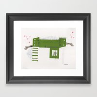 House on wheels Framed Art Print