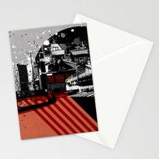 CMYK Triptych - Magenta Stationery Cards