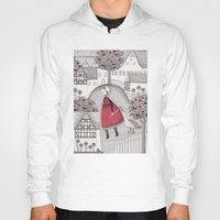 Hoody featuring The Old Village by Judith Clay