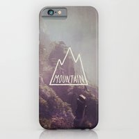 iPhone & iPod Case featuring Mountain Lettering by Ellen Su