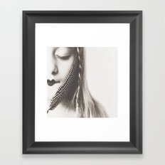 the sound of birds Framed Art Print