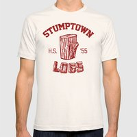 Stumptown Logs Mens Fitted Tee Natural SMALL