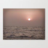 warming the ocean Canvas Print