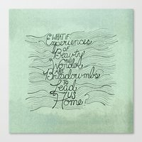 Breadcrumbs Canvas Print