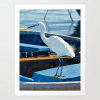 Little Egret Art Print