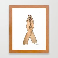 Lovely Hands Framed Art Print