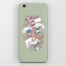 Whales and Waves iPhone & iPod Skin