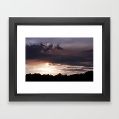 Sunset Rays Framed Art Print