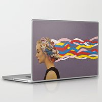 city Laptop & iPad Skins featuring wave by Canson City