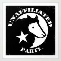 UNAFFILIATED PARTY STENCIL Art Print