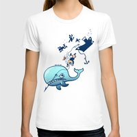 T-shirt featuring Whales are Furious! by Zoo&co on Society6 Products
