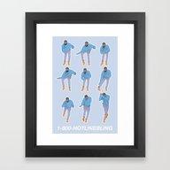 Hotline Bling (blue) Framed Art Print