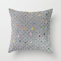 Pin Points Polka Dots Shiny Throw Pillow