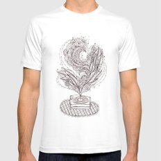 the music maker SMALL White Mens Fitted Tee