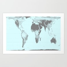 World Map : Gall Peters … Art Print