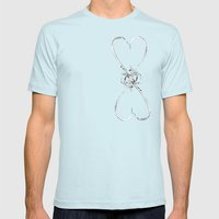 Love is Infinite Mens Fitted Tee Light Blue SMALL