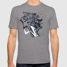 A Forest's Darkness Mens Fitted Tee Tri-Grey SMALL