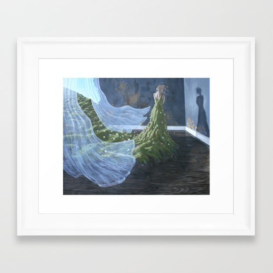 you'll catch your death Framed Art Print