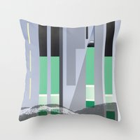 Rolling Through The Pine… Throw Pillow