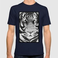 Be A Tiger Mens Fitted Tee Navy SMALL