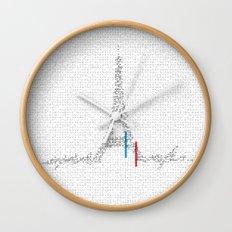 Eiffel Tower   Paris, France   Esperantos   StoryScape #1 Wall Clock