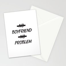 No Boyfriend No Problem Stationery Cards