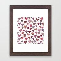 Artsy Hearts Framed Art Print