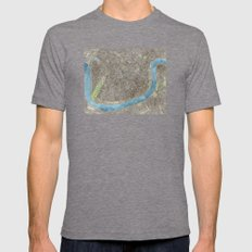 New Orleans City Map Mens Fitted Tee Tri-Grey SMALL