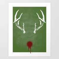 Rudolph The Bloody Nosed… Art Print