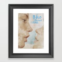 Blue is the warmest colour - chapter one - hand-painted movie poster -  Framed Art Print