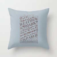 Jane Austen Covers: Sense and Sensibility Throw Pillow
