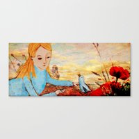 I've met a Blue Bird today Canvas Print