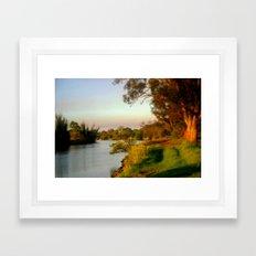 Banks of the Thompson River Framed Art Print