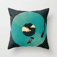 Songs for a Rainy Day Throw Pillow