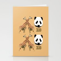 XOXO Wild Animals Stationery Cards