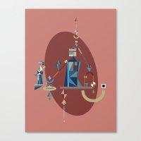 Absinthe: Blue Canvas Print