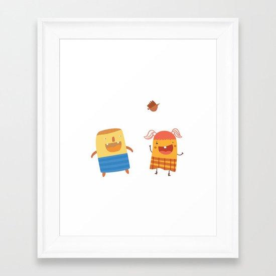 YOU MAKE ME SMILE Framed Art Print