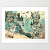 Last Unicorn Journey  Art Print