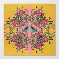 Love Birds II (yellow Ve… Canvas Print