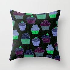 Cupcakes Curly Throw Pillow