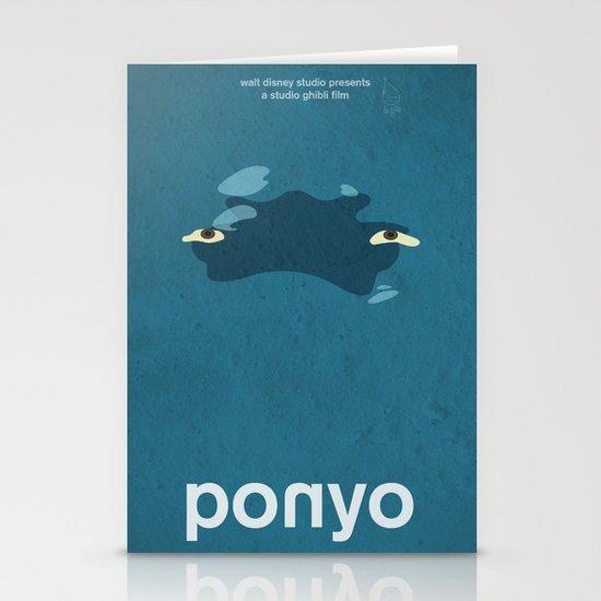 Ponyo Stationery Card