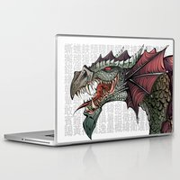 dragon Laptop & iPad Skins featuring dragon by Erdogan Ulker