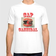 Cap Cannibal  Mens Fitted Tee White SMALL